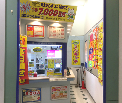 奈良の年末ジャンボ宝くじがよく当たる売り場の参考画像