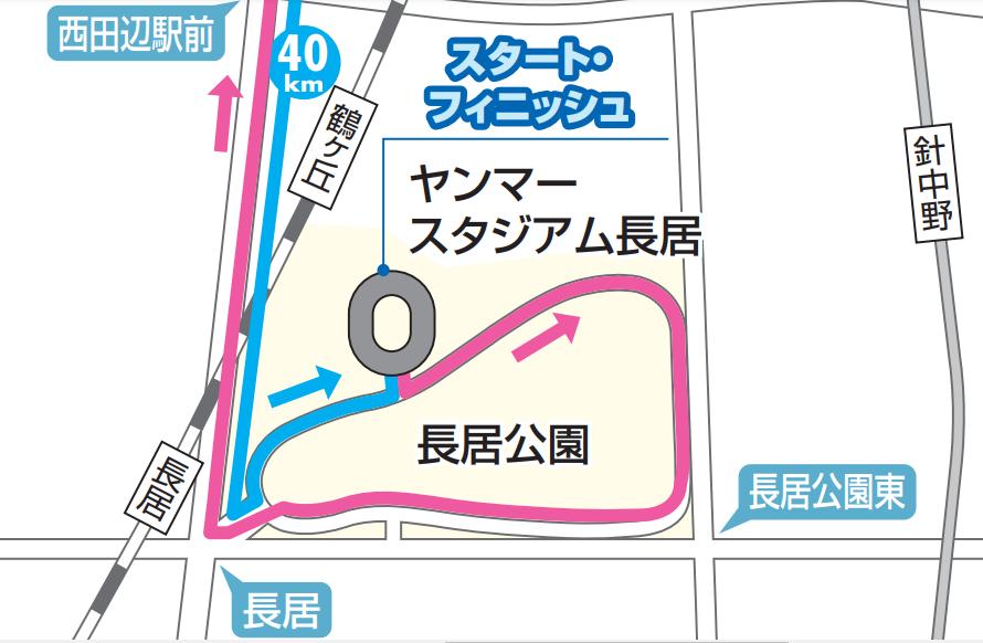 大阪国際女子マラソンのコースの参考画像