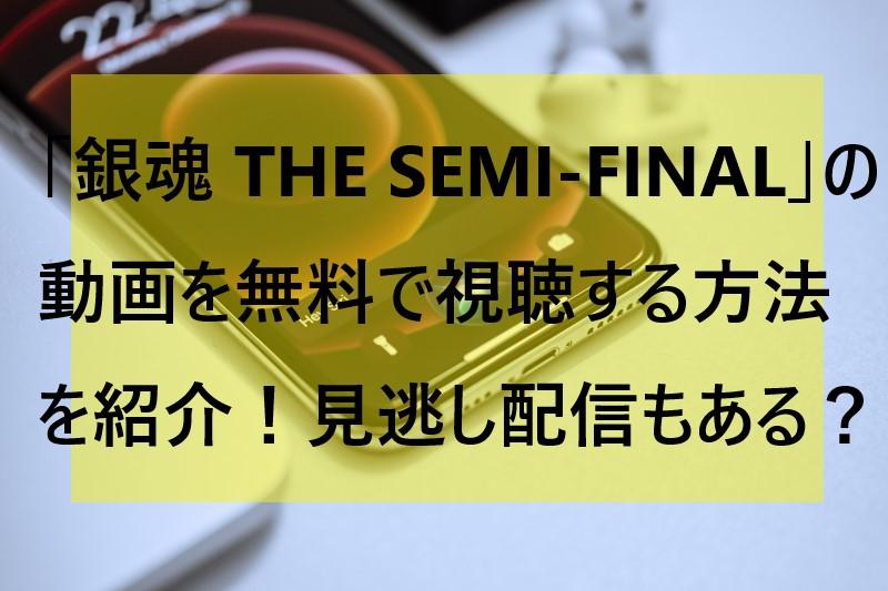 銀魂SemiFinal動画無料視聴方法の参考画像